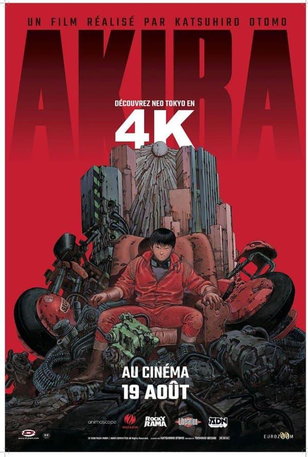 Affiche de la ressortie d'Akira en 4K