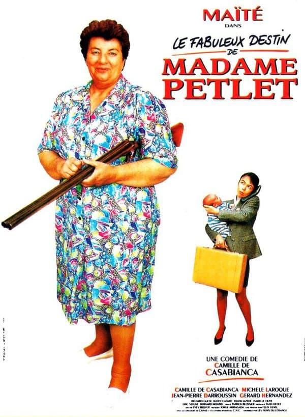 """Affiche du """"Fabuleux destin de Madame Petlet"""" avec Maïté"""