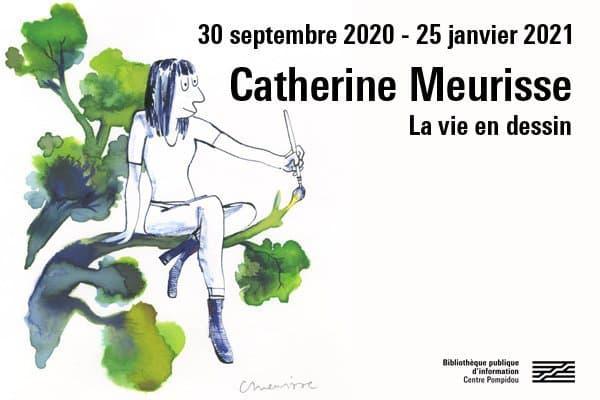 Affiche de l'exposition Catherine Meurisse à Beaubourg