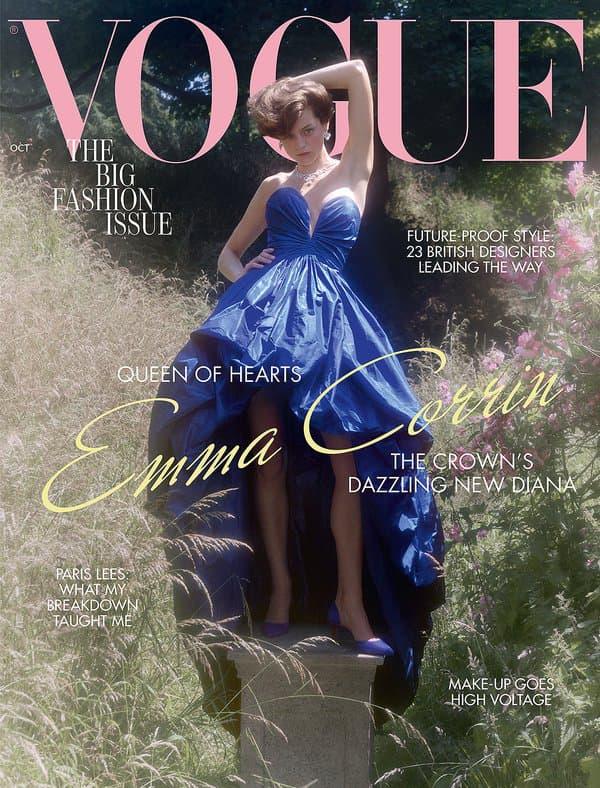 Emma Corrin dans Vogue