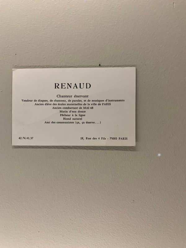 """Détail de l'exposition Renaud, """"putain d'expo""""."""