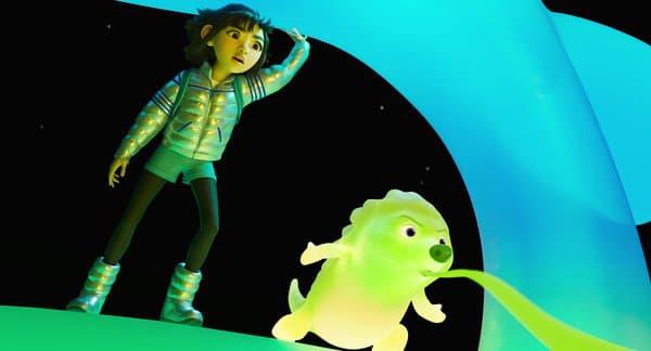 """Une scène de """"Voyage vers la Lune"""", le nouveau film d'animation de Netflix"""
