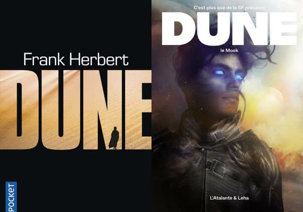 """Couvertures du roman """"Dune"""" et du mook """"Dune"""""""