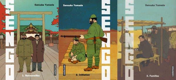 """Les couvertures des trois premiers tomes """"Sengo"""""""