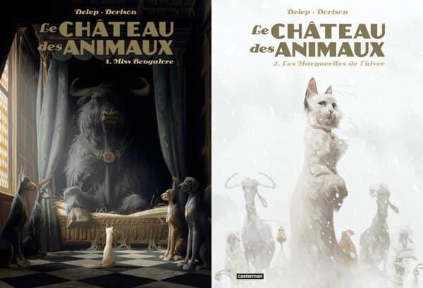 """Les deux tomes du """"Château des animaux"""", la nouvelle BD de Xavier Dorison."""