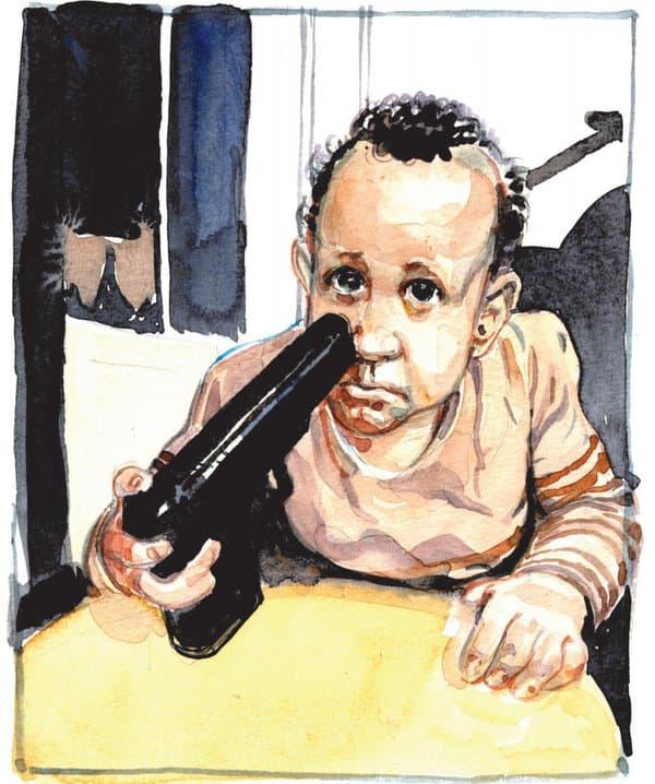Un enfant Kouachi, dessiné par François Boucq