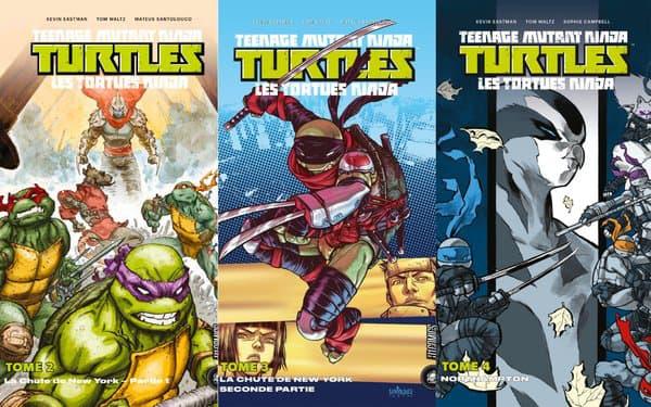 "Couvertures des comics des ""Tortues Ninja"""