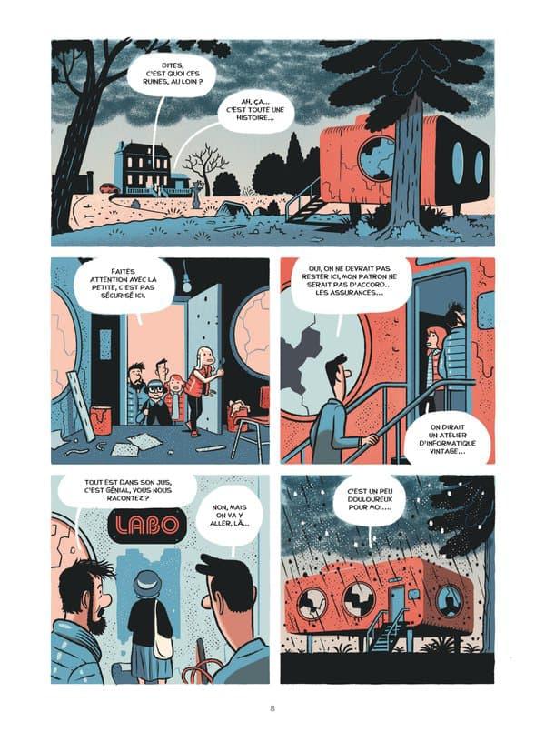 """Une planche de la BD """"Le Labo"""" de Hervé Bourhis et Lucas Varela"""