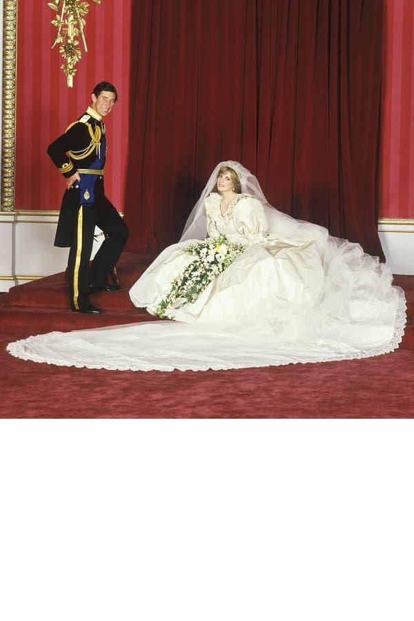 Charles et Lady Di lors de leur mariage