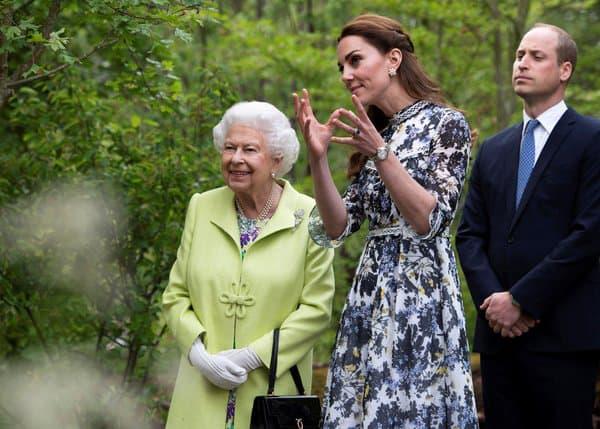 La reine et Kate Middleton en 2019