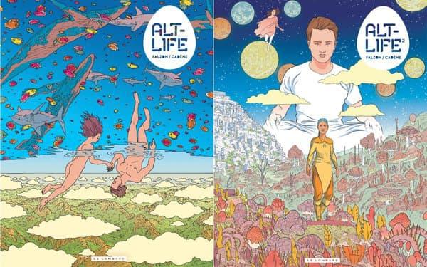 """Les deux tomes de la BD de SF """"Alt-Life"""""""